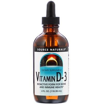 Купить Source Naturals Витамин D-3, 4 жидкие унции (118, 28 мл)