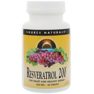 Source Naturals, Resveratrol 200, 200 mg, 60 Tablets
