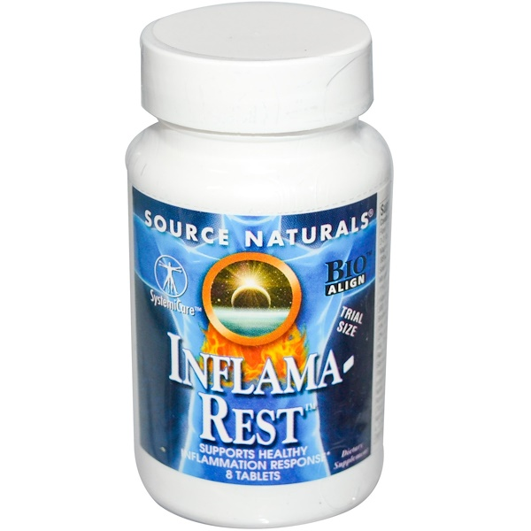 Source Naturals, Inflama-Rest, Trial Size, 8 Tablets (Discontinued Item)