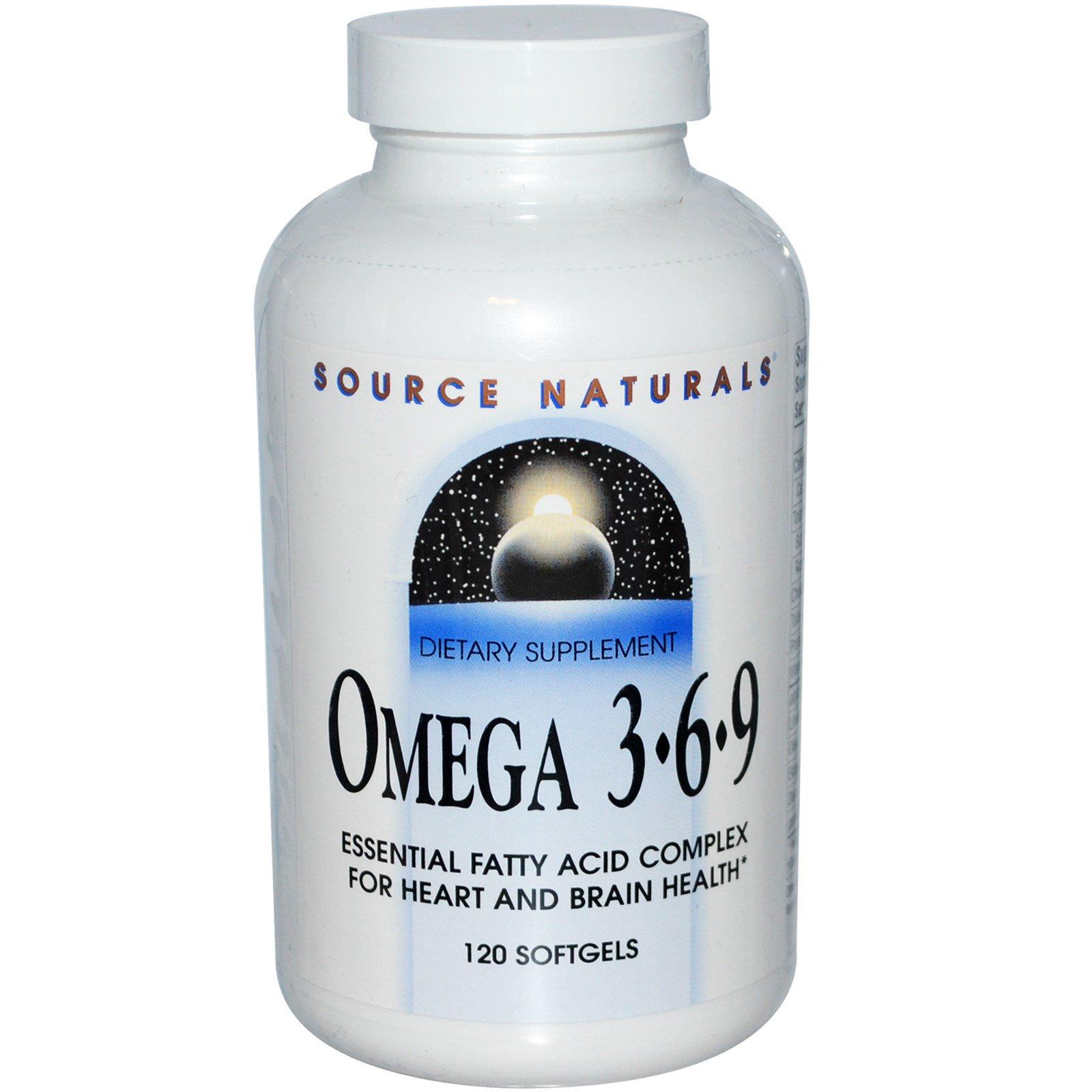 Source Naturals, Omega 3·6·9, 120 Softgels