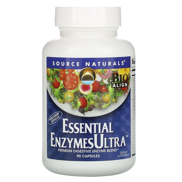 Source Naturals, Essential Enzymes Ultra, 캡슐 90정