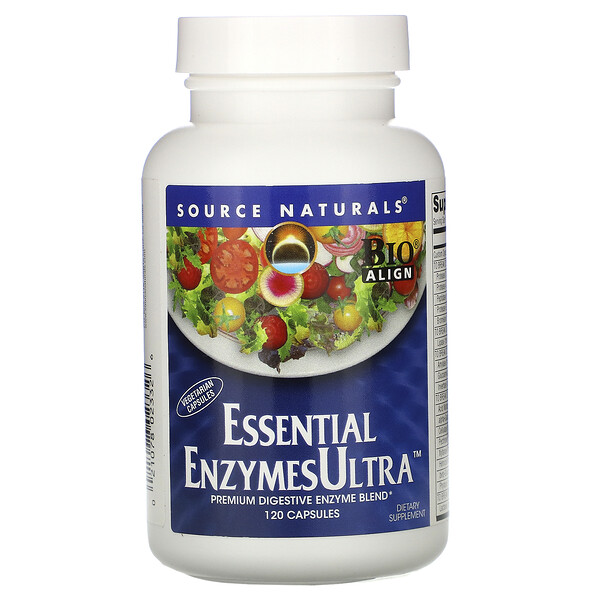 Source Naturals, Essential EnzymesUltra , 캡슐 120정