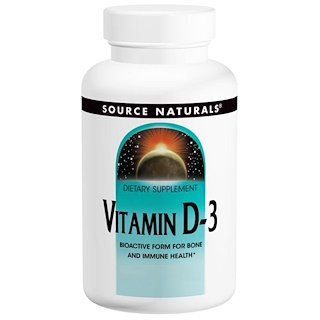 Source Naturals, Vitamin D-3, 5.000 IE, 240 Kapseln