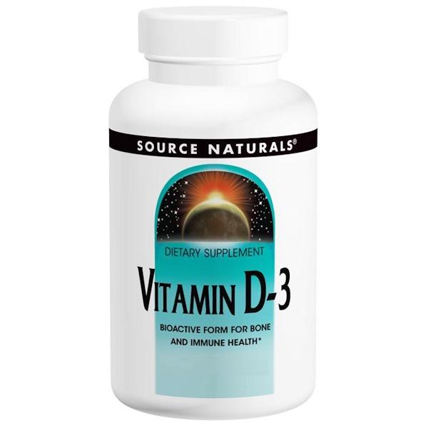 Source Naturals, Vitamin D-3, 5,000 IU, 240 Capsules