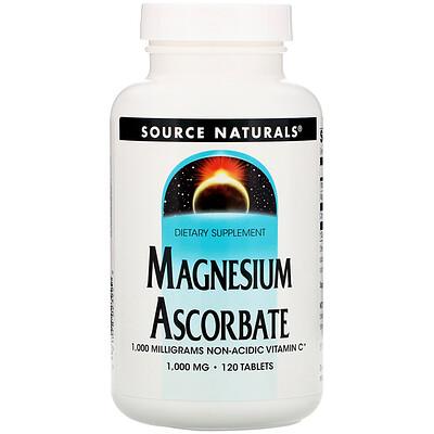 Купить Source Naturals Магния аскорбат, 1000 мг, 120 таблеток