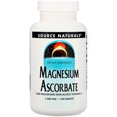 Source Naturals, 抗壞血酸鎂片,1000毫克,120片