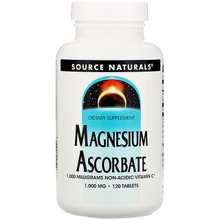 Source Naturals, Magnesium Ascorbate, 1000 mg, 120 Tablets