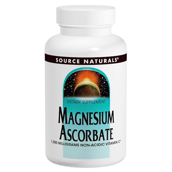 Source Naturals, Magnesium Ascorbate, 1000 mg, 120 Tabletas