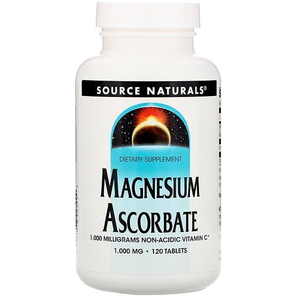 Magnesium Ascorbate, 1000 mg, 120 Tablets