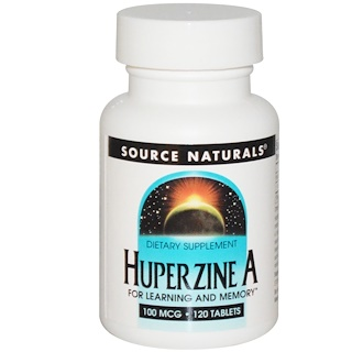 Source Naturals, Huperzin A, 100 ╡g, 120 Tabletten