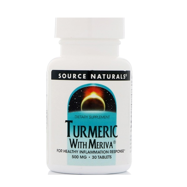 Turmeric with Meriva, 500 mg, 30 Tablets
