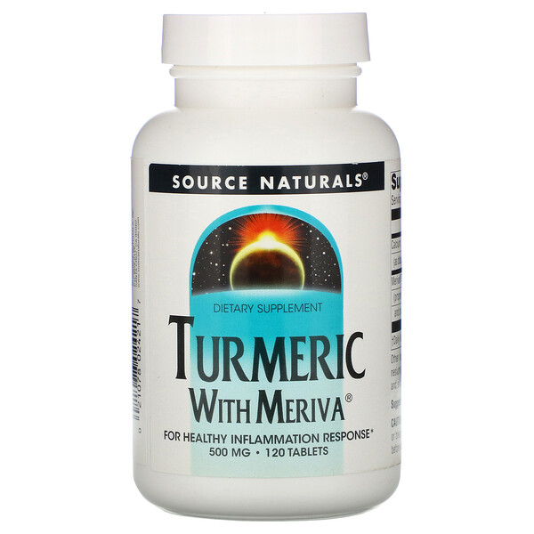 Turmeric with Meriva, 500 mg, 120 Tablets
