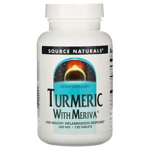 Сорс Начэралс, Turmeric with Meriva, 500 mg, 120 Tablets отзывы