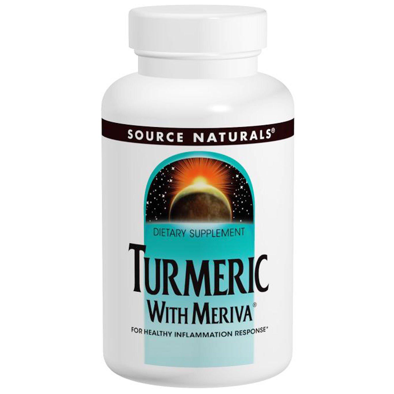 Source Naturals, Комплекс с куркумой Meriva, 500 мг, 30 капсул