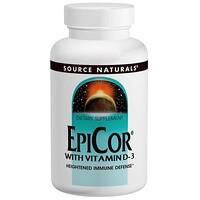 EpiCor с витамином D-3, 500 мг, 120 капсул - фото