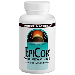 Source Naturals, エピコーとビタミンD-3、 500mg、 120カプセル