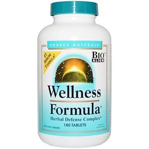 Source Naturals, Wellness Formula, с андрографисом и экстрактом пчелиного прополиса, 180 таблеток