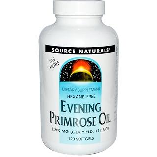 Source Naturals, Evening Primrose Oil, 1300 mg, 120 Softgels