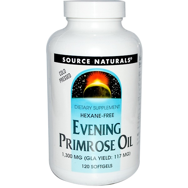 Source Naturals, Evening Primrose Oil, 1300 mg, 120 Softgels (Discontinued Item)