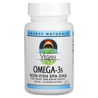 Source Naturals, Vegan Omega-3s Non-Fish EPA-DHA, 300 mg, 30 Vegan Softgels