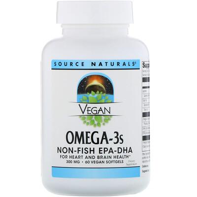 Фото Веганская Омега 3S, ЭПК-ДГК, 300 мг, 60 веганских мягких таблеток