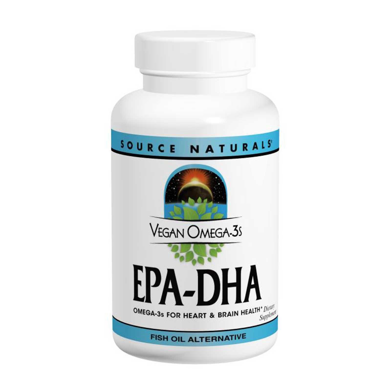 Source Naturals, Веганская Омега 3S, ЭПК-ДГК, 300 мг, 60 веганских мягких таблеток