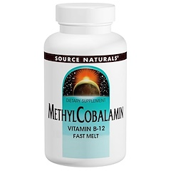 Source Naturals, Methylcobalamin Fast Melt, 5 mg, 60 Tablets