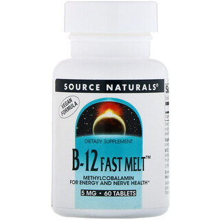 Source Naturals, B-12 Fast Melt, 5 mg, 60 Tablets
