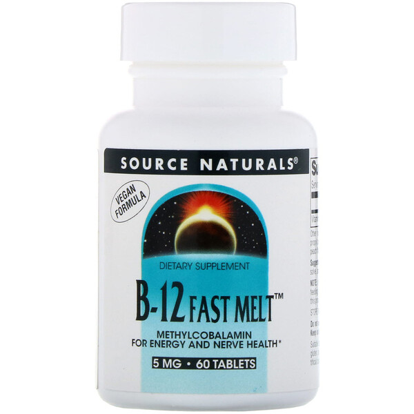 Source Naturals, B-12 Fast Melt, 5 mg, 60 Tablets
