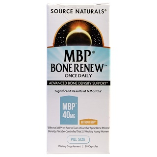 Source Naturals, MBP Bone Renew, Once Daily, 30 Capsules