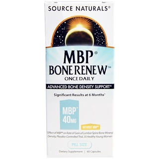 Source Naturals, MBP Bone Renew, Once Daily, 60 Capsules