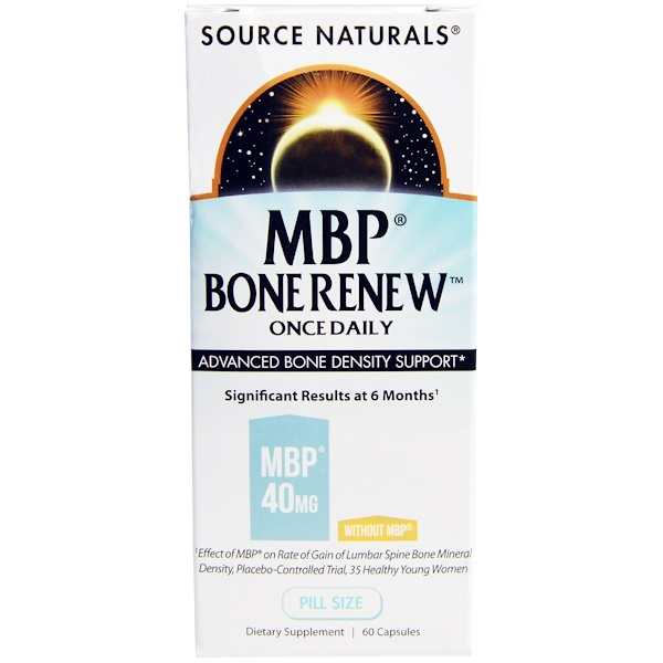 Source Naturals, MBP Bone Renew, Once Daily, 60 Capsules (Discontinued Item)