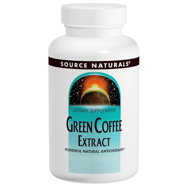 Source Naturals, Green Coffee Extract, 500 mg, 60 Tablets (Discontinued Item)