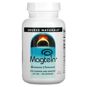 Source Naturals, Magtein, Magnesium L-Threonate, 667 mg, 90 Capsules