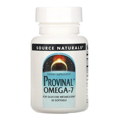 Купить Source Naturals Provinal омега-7, 30капсул