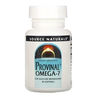 Source Naturals, Provinal 歐米伽-7,30 粒軟凝膠