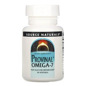 Сорс Начэралс, Provinal Omega-7, 30 Softgels отзывы