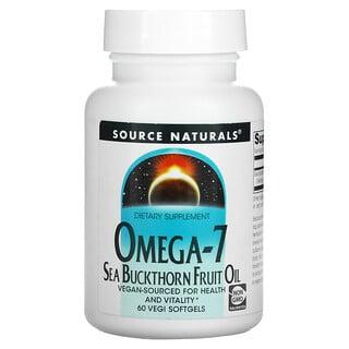 Source Naturals, Omega-7, Seabuckthorn Fruit Oil, 60 Vegi Softgels