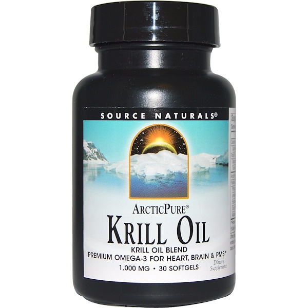 Source Naturals, ArcticPure, Krill Oil, 1,000 mg, 30 Softgels
