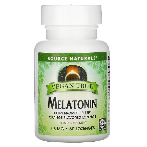 Vegano de verdad, melatonina, naranja, 2.5 mg, 60 tabletas