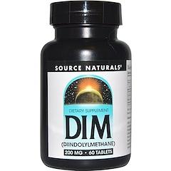 Source Naturals, DIM (Дииндолилметан ), 200 мг, 60 таблеток