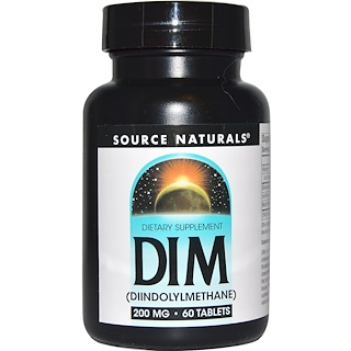 Source Naturals, DIM (diindolilmetano), 200 mg, 60 tabletas