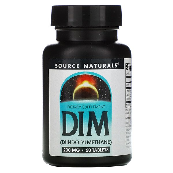 Source Naturals, DIM, 200 mg, 60 Tablets