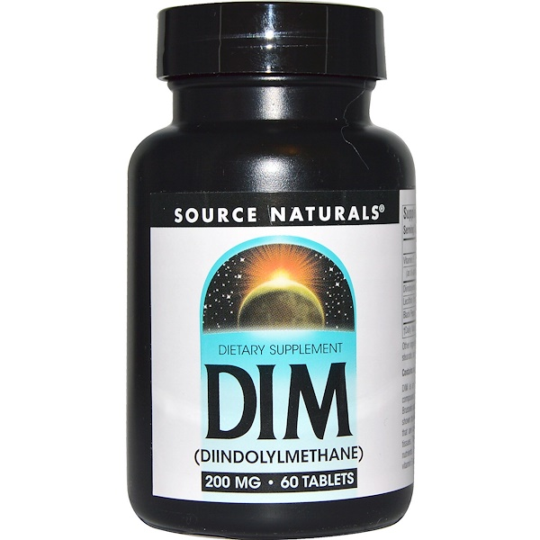 Source Naturals, DIM (Diindolilmetano), 200 mg, 60 Tabletes