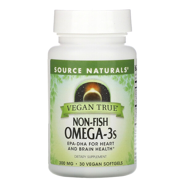 Vegan True, Non-Fish Omega-3s, 300 mg, 30 Vegan Softgels