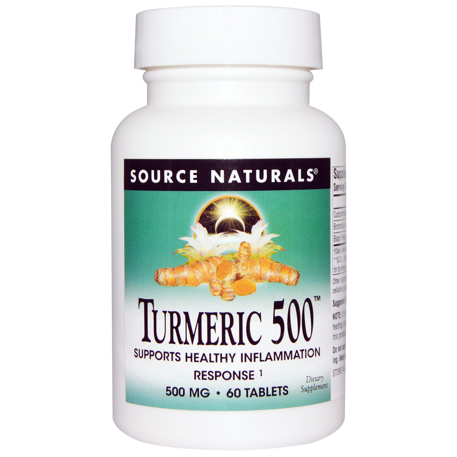 Source Naturals, Куркума 500, 60 таблеток