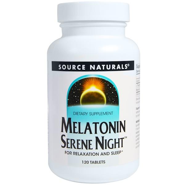 Source Naturals, Melatonin Serene Night, 120 Tablets (Discontinued Item)