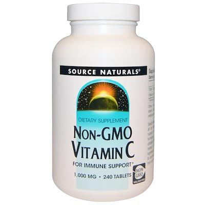 Купить Source Naturals Витамин С без ГМО, 1, 000 мг, 240 таблеток