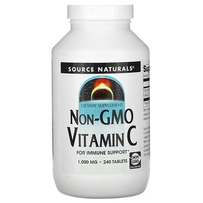 Source Naturals Витамин С без ГМО, 1,000 мг, 240 таблеток