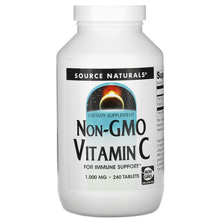 Source Naturals, فيتامين سي غير معدل وراثيًا، 1000 مغ، 240 قرص
